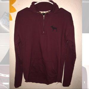PINK half zip sweatshirt